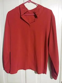 red Henley long-sleeved shirt Augusta, 30904