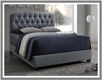Queen Tufted Bed - Gray Baltimore