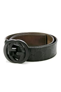 black Gucci leather belt with silver buckle San Antonio, 78229