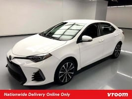 2018 Toyota Corolla White sedan