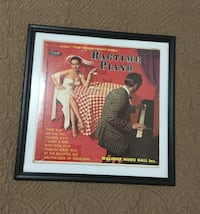 Vintage LP Ragtime Piano Long Play Record framed , 11220