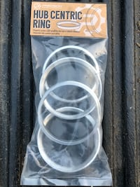Brand new aluminum centric rings. Bought but never used them. Just trying to get money back. They are 64mm to 71mm rings for your wheel hub to fix rims Stony Point, 10980
