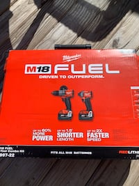 Milwaukee Fuel Hammer Drill/ Impact Driver Kit South Easton, 02375
