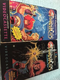 2 thundecats vhs video tapes