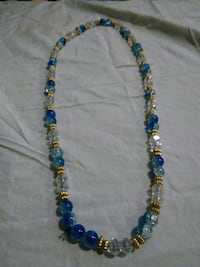 blue and brown beaded necklace New York, 10035