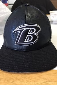 Baltimore Ravens leather hat official team gear *rare*