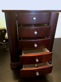 brown wooden 5-drawer jewelry box Portland
