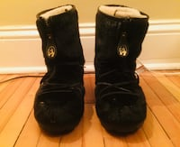 AUTHENTIC Seal Fur Boots, Men's Size 13, EXTREMELY WARM BOOTS! Black Seal Fur 713 km
