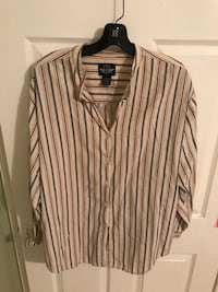 Dockers beige and blue striped dress shirt Vienna, 22182