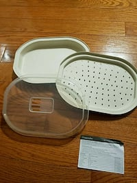 Microwave cooking container