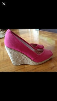 pink wedge shoes Toronto, M5R 2P5