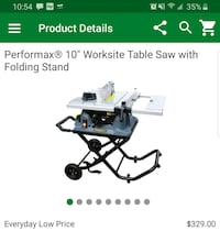 "Table saw Performax 10""  with foldable stand. Chicago, 60630"