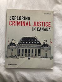 """Exploring criminal justice in Canada"" good condition."