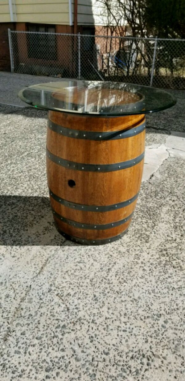 Used Reclaimed Wine Barrel Table For Sale In Yonkers Letgo