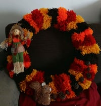 red and black floral wreath Los Fresnos, 78566