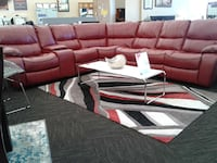*Brand New* Red Leather Sectional Norfolk, 23502