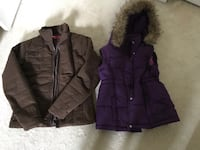 10-12 Youth girls fall light jacket and purple vest, take both for $5. Located by Callingwood 3160 km