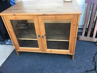 brown wooden 2-door cabinet CARLSBAD