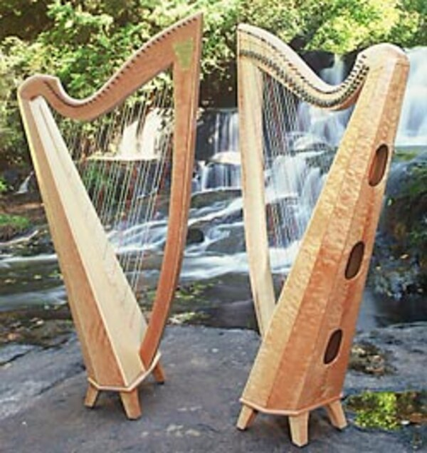 Beautiful 36 string professional Thormahlen Swan Maple Lever Harp