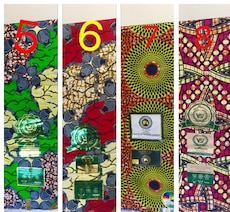 African fabric $40 each