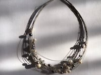 Multi strand pearl and wire choker Allentown, 18104