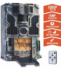 """TOMSHOO Trail Camera 16MP 1080P Wildlife Hunting Camera with Motion Activated Night Vision 20m,0.2s Trigger Speed,2.4""""LCD Screen and 130° Wide Angle Lens,IP55 Waterproof Design for Wildlife Hunting Springfield, 22153"""