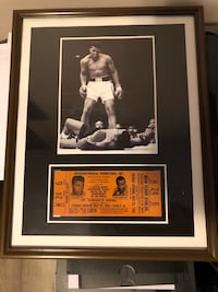 Ali picture with ticket to fight