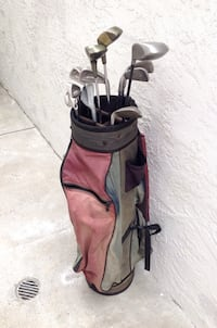 Check out this deal!!?!?  Set of used Golf Clubs with Bag!!!! WHat?!? THAT's right!! San Diego, 92131