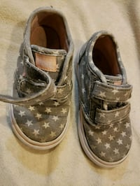 Toddler girls Vans shoes sneakers size 7.5/8C