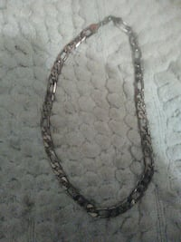 silver-colored figaro chain necklace with lobster lock Edmonton, T6K 3E3