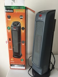 black and gray Lasko tower fan with box Bristow, 20136