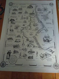 Map historical places Plymouth Kingston Duxbury Ma Norwell, 02061