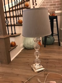 Glass lamp from Z Gallerie. 2 available. $35 each or pair for $60   Stanley, 28164