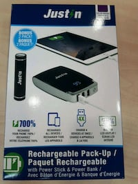 Rechargeable Pack up/ power stick Oshawa, L1G 4W6