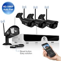 Wireless 4 Security Camera System HD 1080p New Sealed Box ! MONTREAL