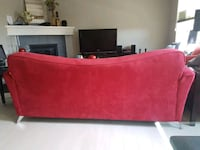 2 RED sofa's set with throw pillows Calgary, T3R 0J2