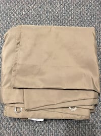 Light Brown Shower Curtain with Rings LANGLEY