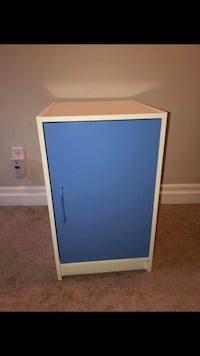 White and Blue Cabinet/Nightstand