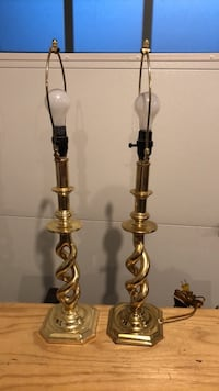 SET OF 2 BRASS LAMPS Hanover, 21076