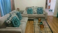 white and blue floral fabric sectional sofa 211 mi