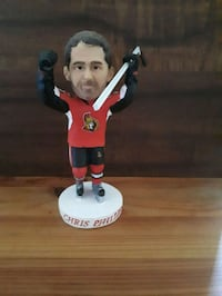 Chris Phillips ceramic Bobblehead.  Whitby, L1P 1A1