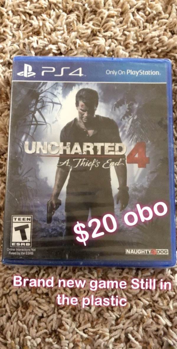 Used Sony PS4 Uncharted 4 A Thief's End case for sale in Rio Rancho - letgo