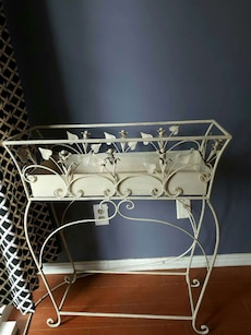white metal rack
