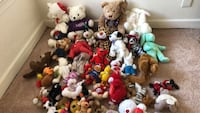 A Beautiful brand new stuff animals with tags on them. Price ranges from $.50 to $5 ssorted-color plush toy lot Norfolk, 23523