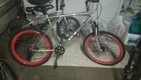 gray and red hardtail bicycle Palmdale, 93551
