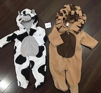 baby's cow and lion blanket sleepers Calgary, T2W 1B3