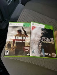 Xbox 360 video games medal of Honor and walking De