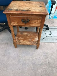 Small Antique Side Table With Drawer