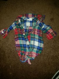 0-3M Dress Shirt Onsie