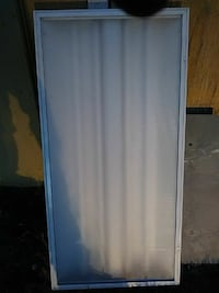 clear glass pane with white steel frame Roanoke
